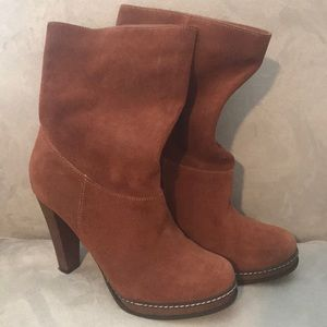 Cole Haan slouch booties - like new